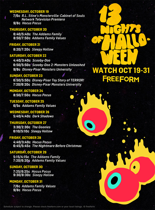 13 Nights of Halloween - Check Out The Schedule For 13 Nights Of Halloween Right Here! - 1002