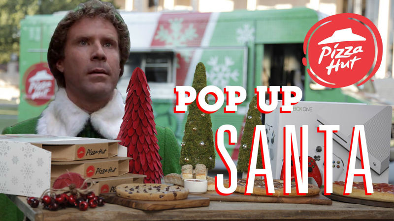 25 Days of Christmas - 10 Reasons We Can't Wait To Watch Elf And The Pizza Hut Pop Up Santa This Christmas! - Thumb