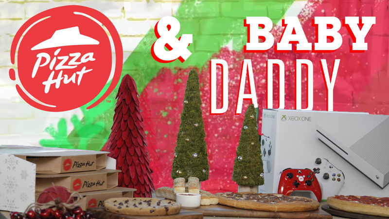 25 Days of Christmas - Pizza Hut Joined Forces With Baby Daddy's Derek And Tahj To Bring Pizza To College! - Thumb