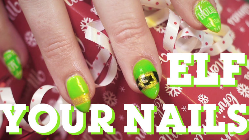 25 Days of Christmas - If You Love Elf And Nail Art Then You Need To Try Elfing Your Nails! - Thumb