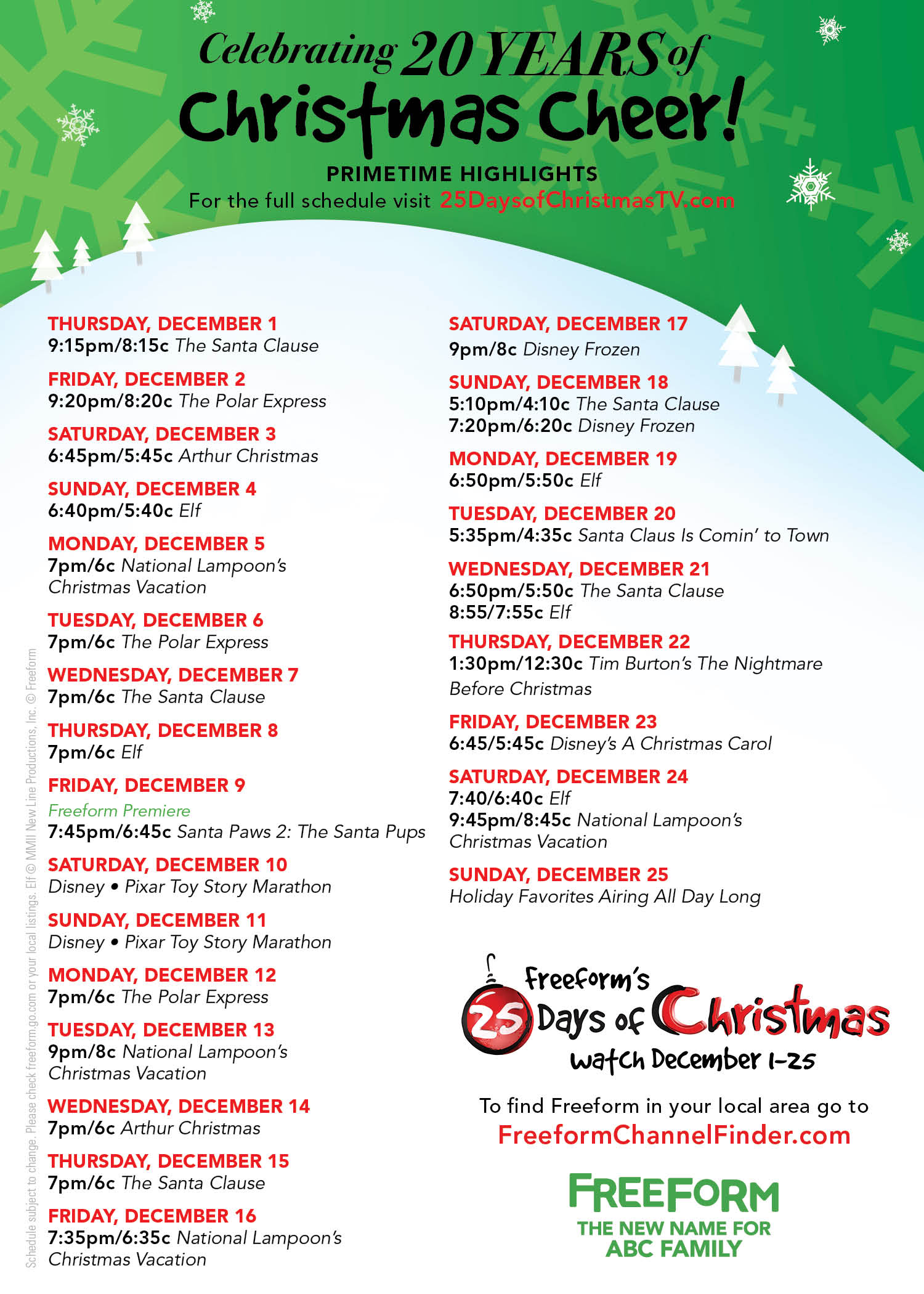 25 Days of Christmas - 25 Days Of Christmas Has Everything We Could Wish For! Check Out The Schedule Here! - 1001