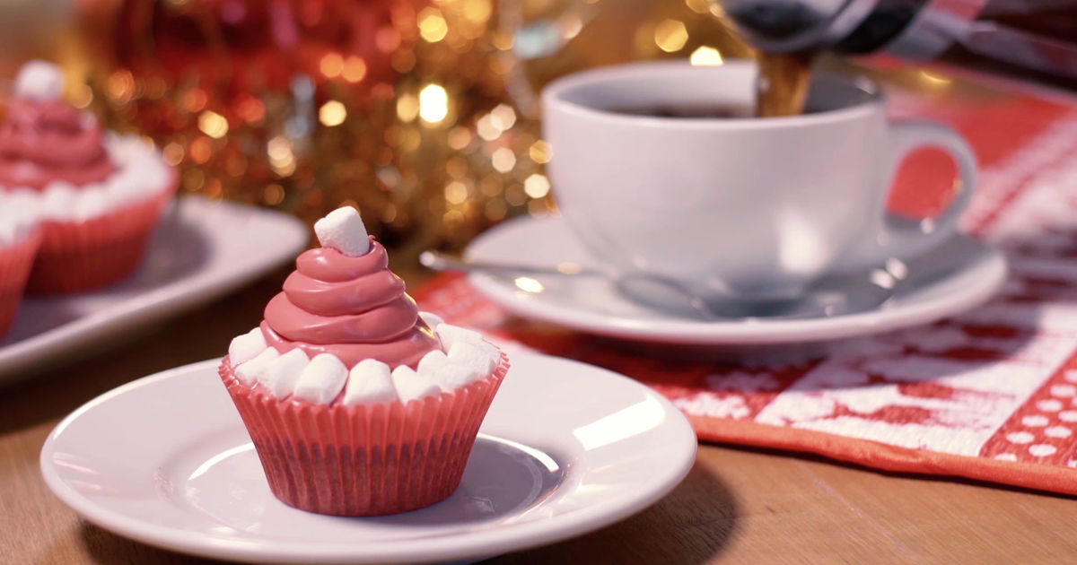 25 Days of Christmas - We Just Can't Get Enough Of These Santa Hat Red Velvet Cupcakes! Check Them Out Now!  - 1013