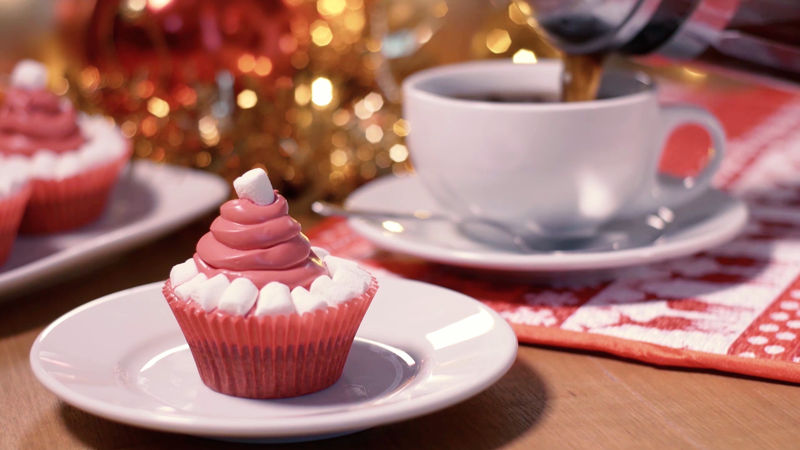 25 Days of Christmas - We Just Can't Get Enough Of These Santa Hat Red Velvet Cupcakes! Check Them Out Now!  - Thumb
