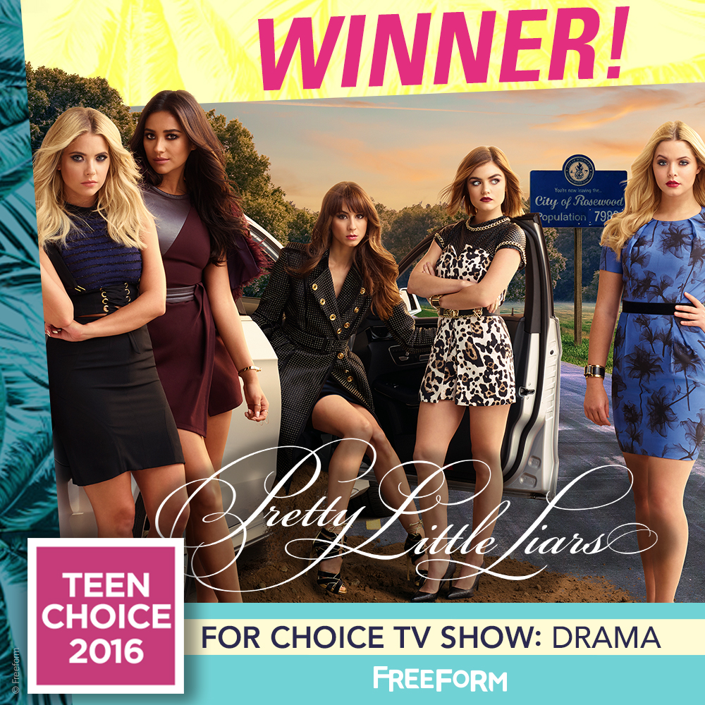 Pretty Little Liars - PLL Totally Slayed At The Teen Choice Awards! Thank You PLL Fandom! - 1001