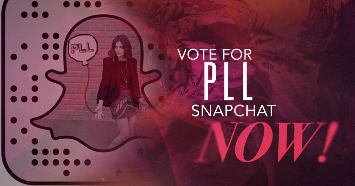 Pretty Little Liars - Love PLL Snapchat? Vote For Us To Win A Ghosties Snapchat Award Now! - 1004