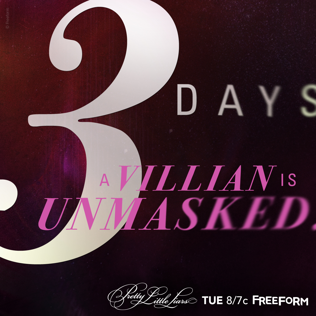 Pretty Little Liars - Just 3 More Days Until A Villain Will Be Unmasked! - 1001