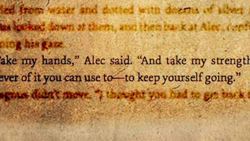 Shadowhunters - This Week's Shadowhunters Writer's Quote: Alec  - Thumb