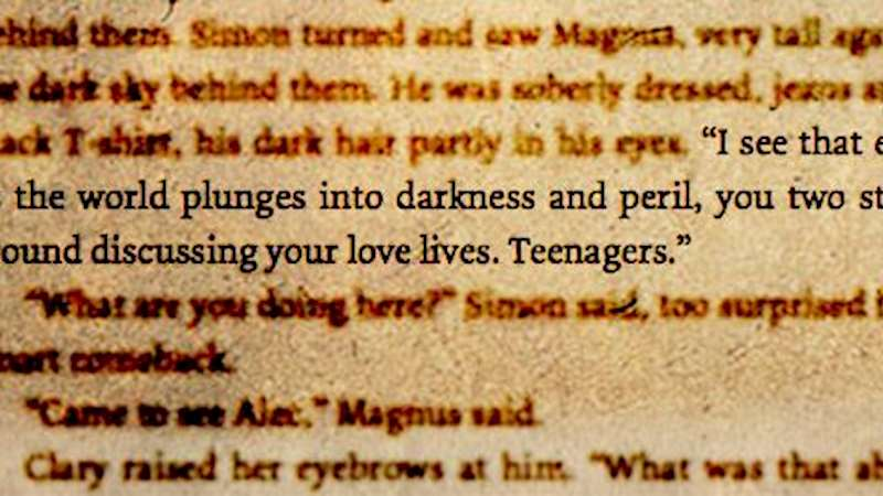 Shadowhunters - This Week's Shadowhunters Writer's Quote: Magnus - Thumb