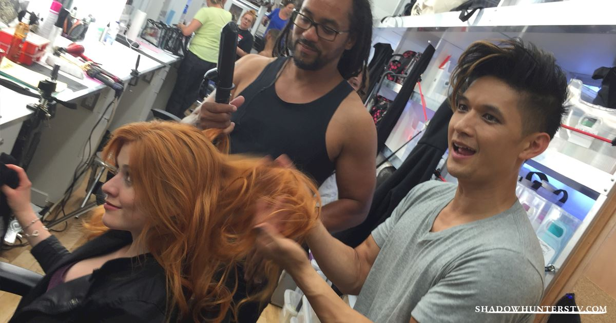 Exclusive Photos Magnus Warlock And Hair Stylist