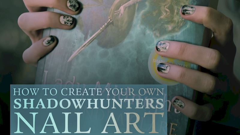 Shadowhunters - Create The Perfect Shadowhunters Manicure with This Nail-Art Tutorial! - Up Next Thumb