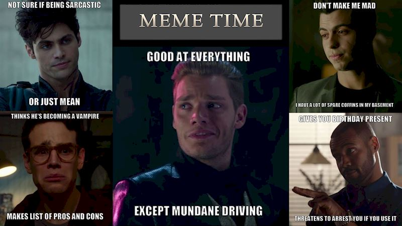Shadowhunters - Always Wanted To Meme The Shadowhunters Boys? Well Now You Can! - Thumb