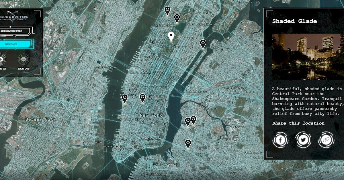 Shadowhunters - Brand New Interactive Locations Revealed On Map The Shadows! - 1004