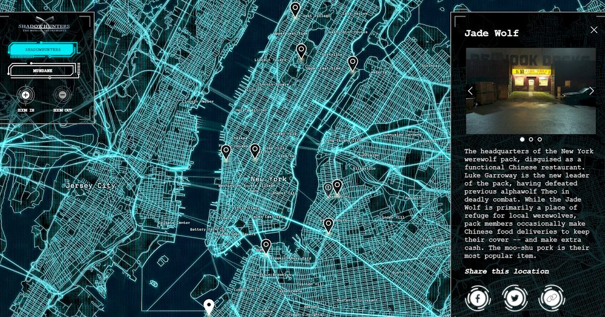 Shadowhunters - Brand New Interactive Locations Revealed On Map The Shadows! - 1005