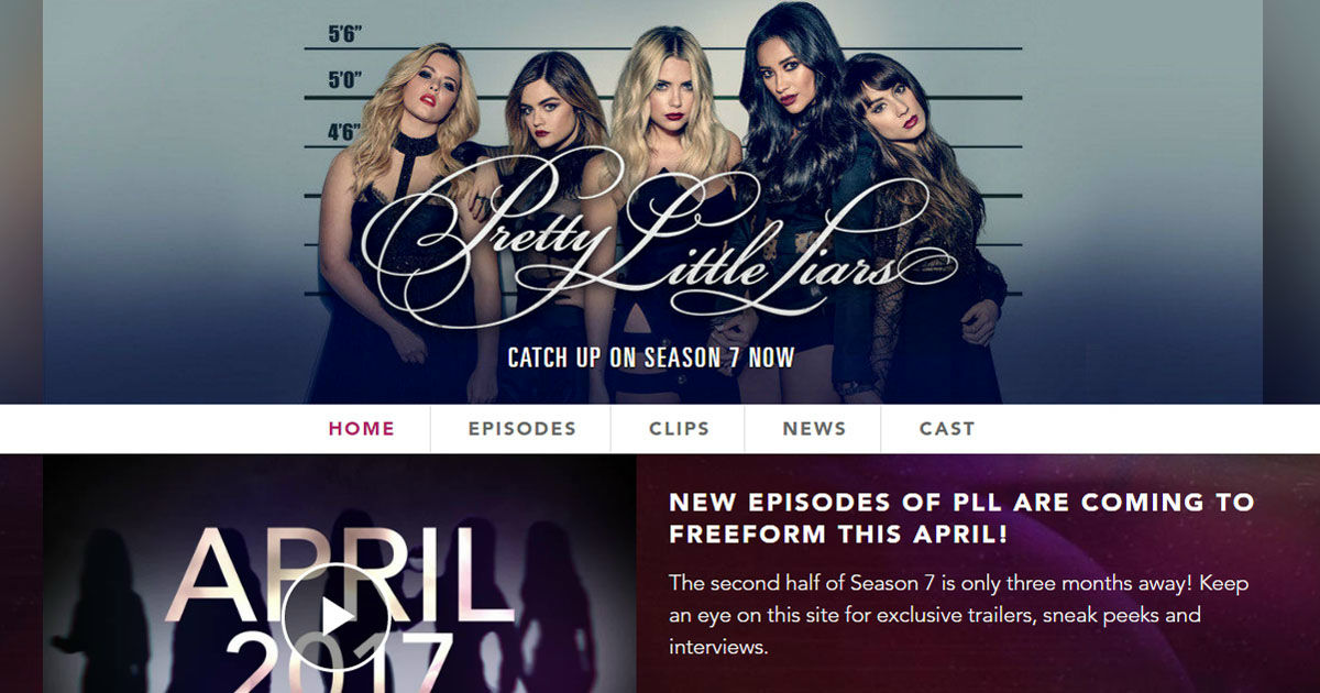 Pretty Little Liars - Welcome To The New (And Amazing) Pretty Little Liars Website! - 1003