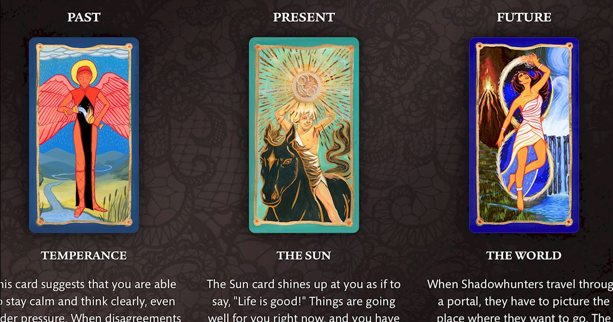 Shadowhunters - Have Your Cards Read With The Shadow Tarot!  - 1003